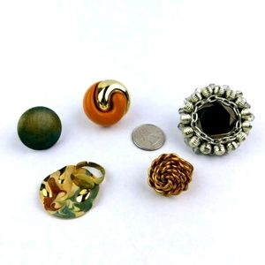 Jewelry - Fashion Costume Jewelry Lot Of 5 Handmade Rings